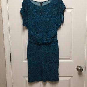 Dress 👗,Cap Sleeve,size-XS, Black/Turquoise